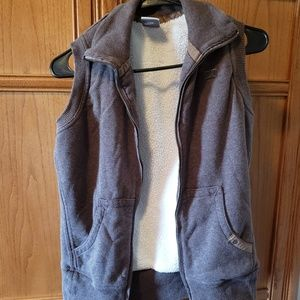Nike brown zippered vest size M